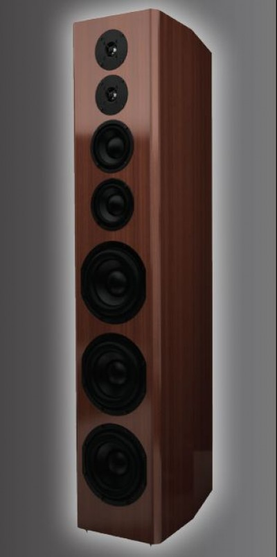 Bryston Model T speaker in wood veneer.