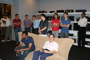 Some of the audiophiles who turned up for the launch.