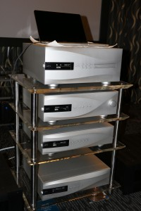 The dCS Vivaldi system. From top: Transport, DAC, Upsampler and Master Clock.