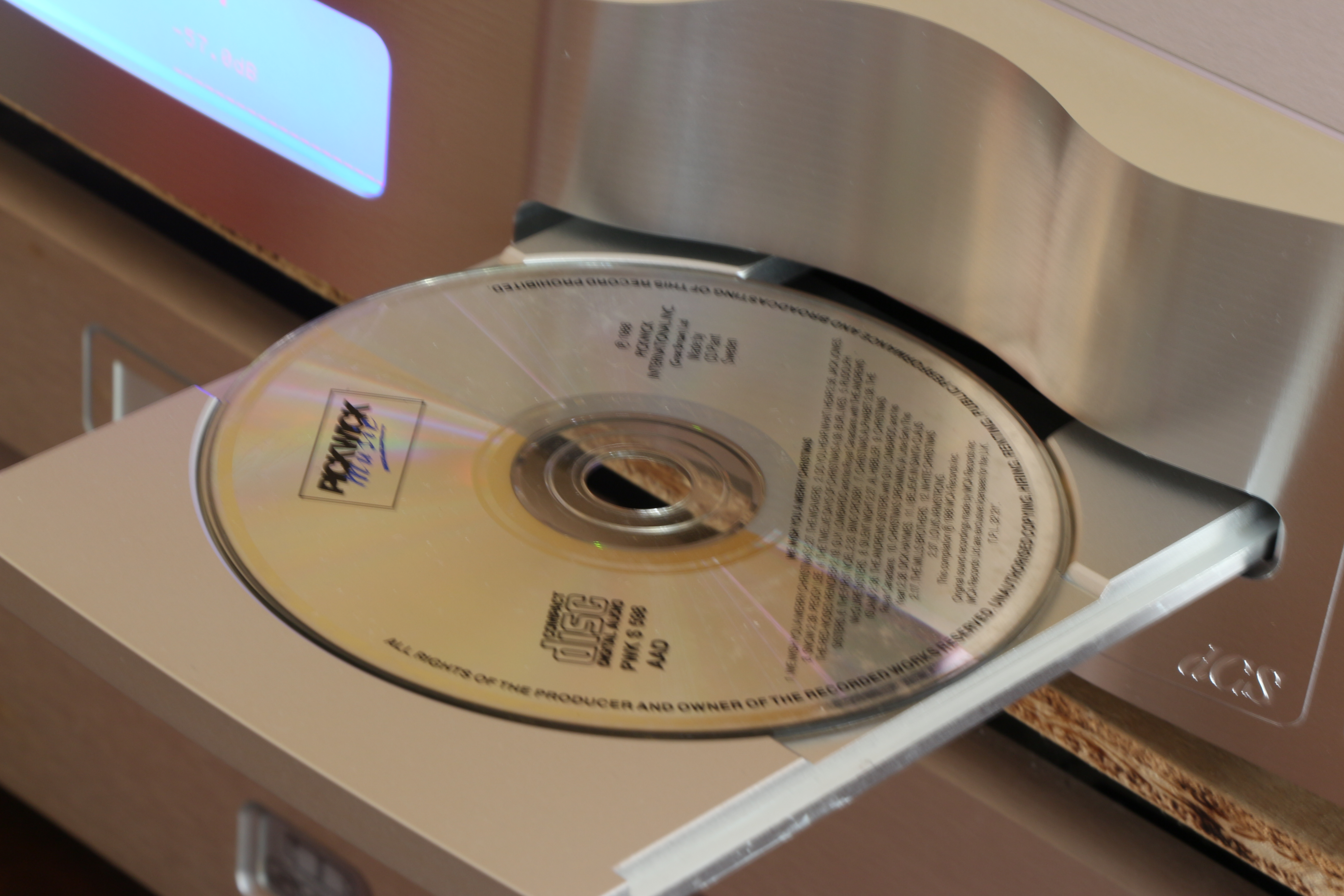 The CD drawer is made from a solid piece of aluminium.