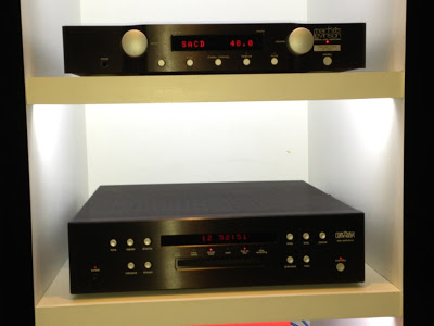 Mark Levinson 326S pre amp (top) and ML 512 SACD/CD player as system front end.