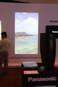 Lamp-free projection. It uses LED light.