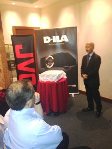 Mr Takehide Sakamoto, MD of JVCKenwood Malaysia was present to launch the JVC 2014 range of projectors