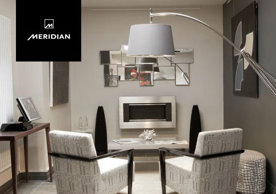 The store showcasing Meridian components.