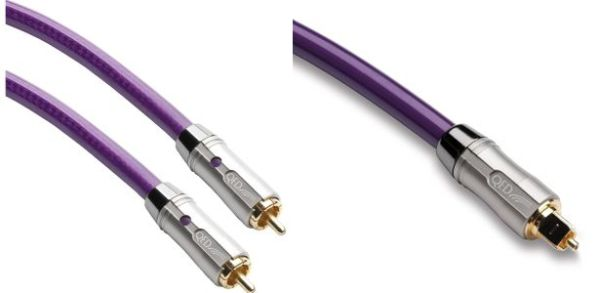 QED reference coax (left) vs QED reference Toslink
