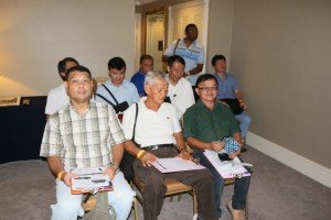 The first batch of audiophiles who attended AV2Day's coax-Toslink shootout.
