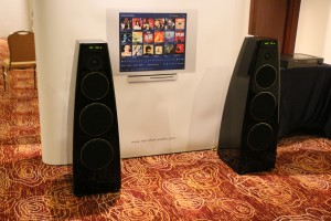 The Meridian active speakers. They still look and sound the same after all these years.