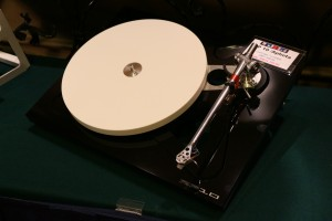 The Rega RP10 turntable that was specially flown in for the show.