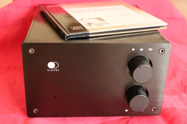 The Clones integrated amp is shaped like half a shoe box.