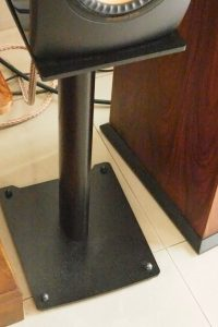 The TAOC AST-60HB speaker stand has a single pillar made of cast iron and filled with cast iron powder.