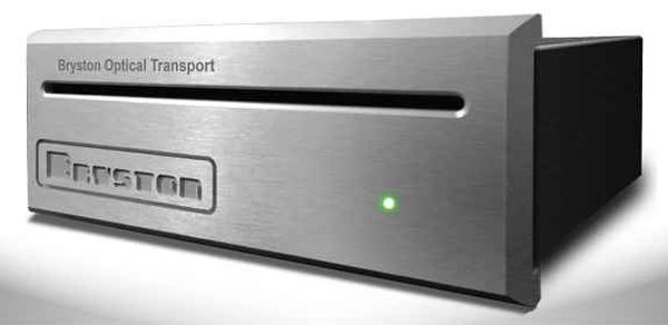 The Bryston BOT-1 optical drive has a slot for loading the CD.