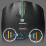 Illustration showing the laser power light source