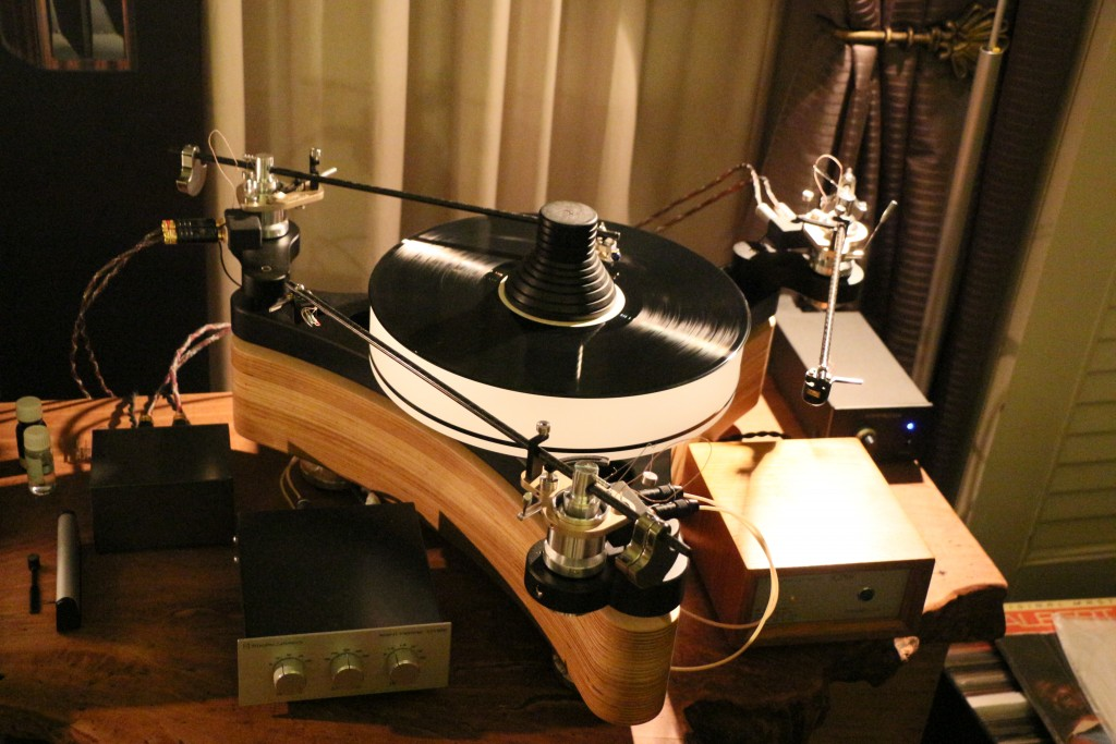 The Consonance Die Walkure turntable in the Living Vinyl Ventures room.