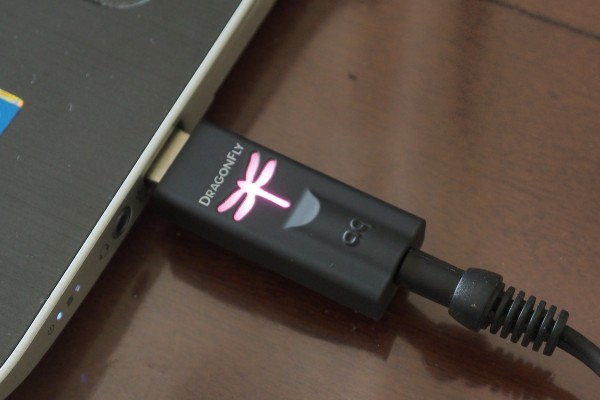 The Audioquest DragonFly USB DAC is small and easy to operate.