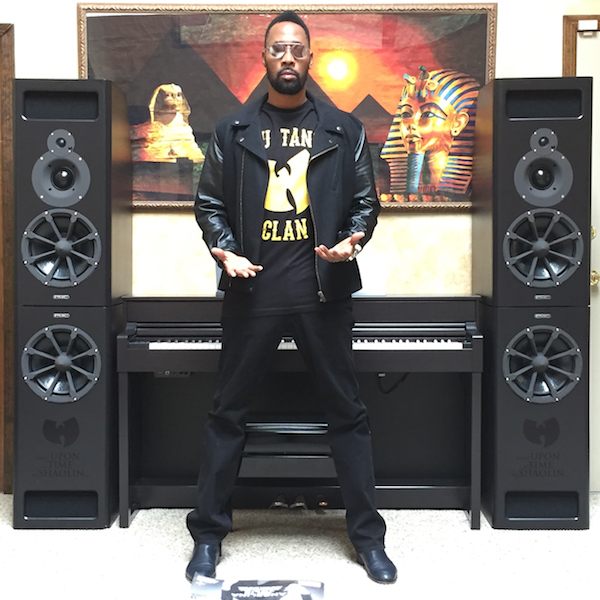 "Wu-Tang Clain's Robert ""The RZA' Diggs with the custom made PMC MB2-XBDs"