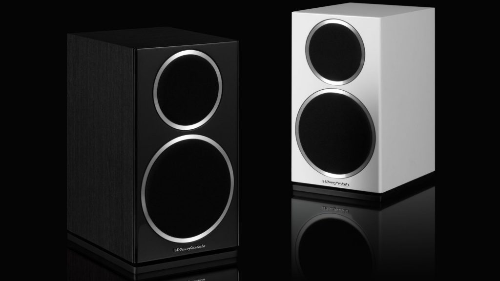 Wharfedale's Diamond 220 in the Hi-Fi staple black and decor friendly white vinyl finishes.