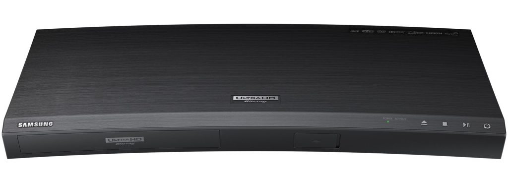 The Samsung UBD-K8500 With its Curved Body and Minimalist Front Fascia Would fit Right in a Modern Decor