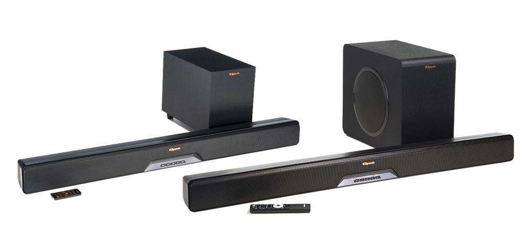 Klipsch's  RSB soundbars share similar aesthetics.  The entry level RSB-6 is obviously smaller with a different looking sub.  The RSB11  and 14 looks identical but have different performance features