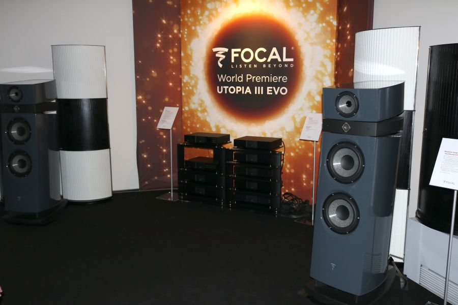 The Focal Utopia III Evo speakers were premiered at Munich High End.
