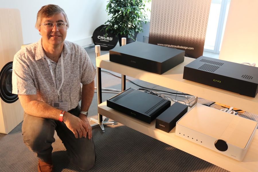 Scott Berry with his CAD components.