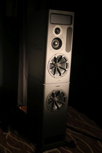 The PMC MB3-XBD-A speakers in AV Designs' room.