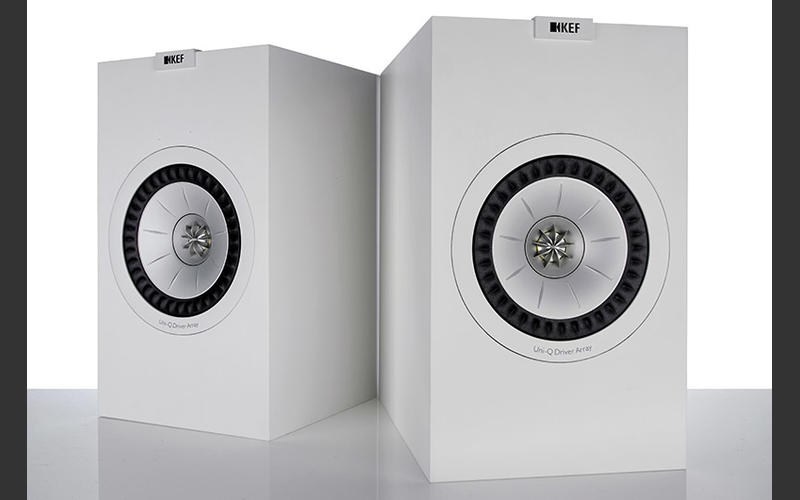 The KEF Q350 speakers come in white and black finish.