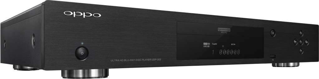 Oppo's UDP-203 Ultra HD Blu-ray Player, one of the first UHD Blu-ray player to hit the resolution starved visual market