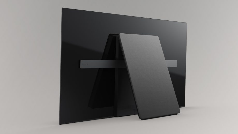 SONY's KD-65A1 OLED UHDTV.  Note the back-panel kickstand