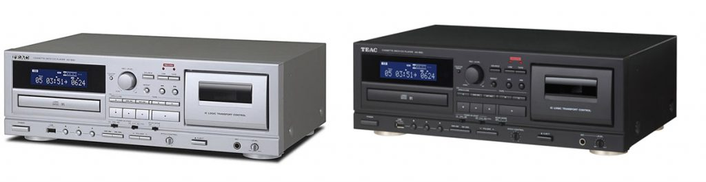 TEAC's AD-850 CD/Cassette deck seen here in both finishes