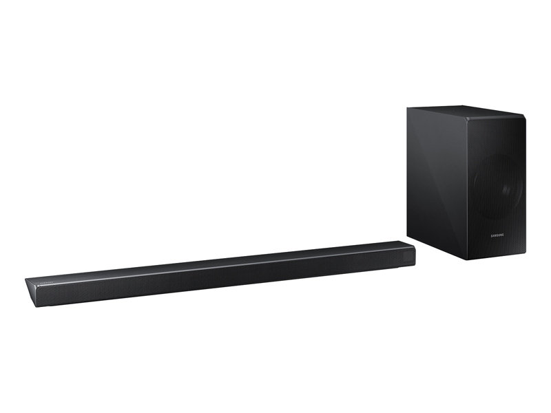 Both the components in the HW-N650 soundbar system from Samsung look great and would fit right into any stylish home decor