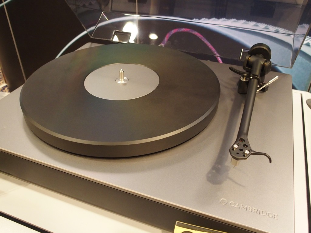 The Cambridge TT turntable. Howeer, it was on static display.