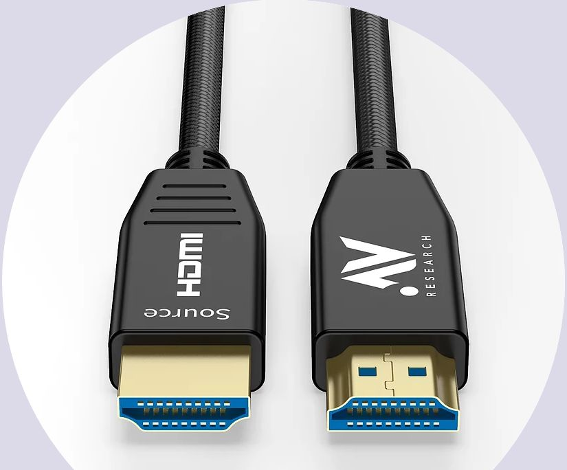 The AV Research optical 4K HDMI cable