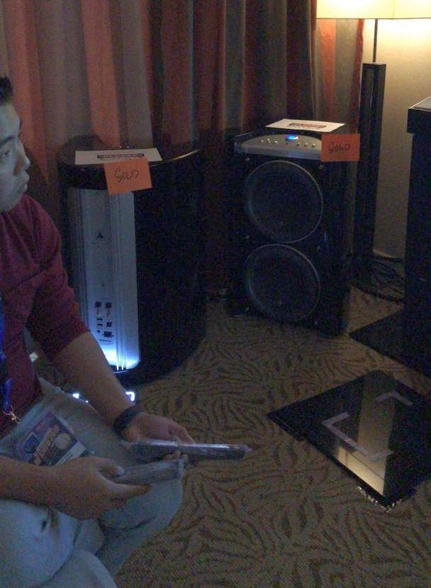 JL Audio g213 subwoofer in Double GT Audio's room.