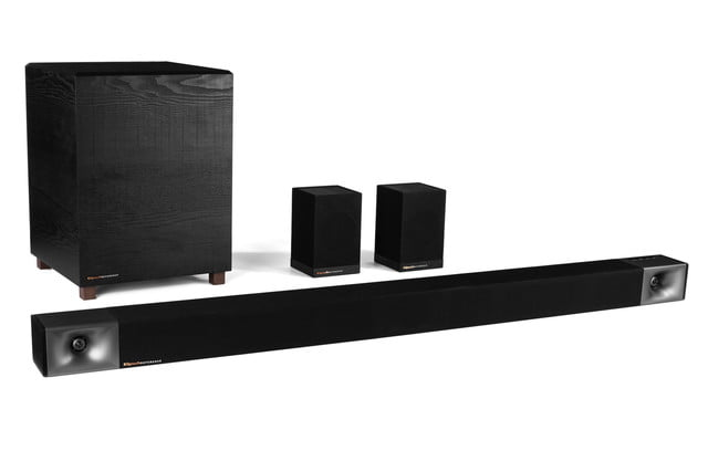 Klipsch BAR40-48 soundbars with wireless subwoofers and surround speaker systems .