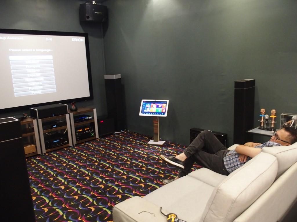 The AV/karaoke room