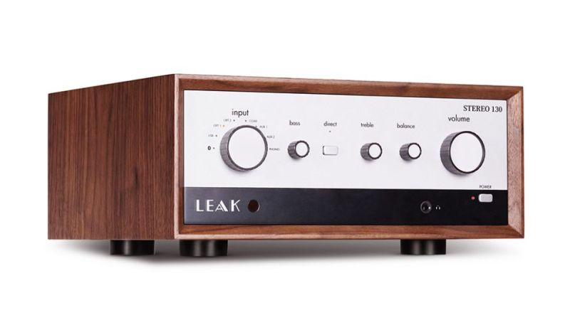The Leak Stereo 130 integrated amplifier is retro looking.