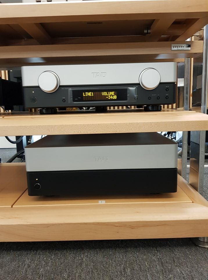 The TAD pre and power amps