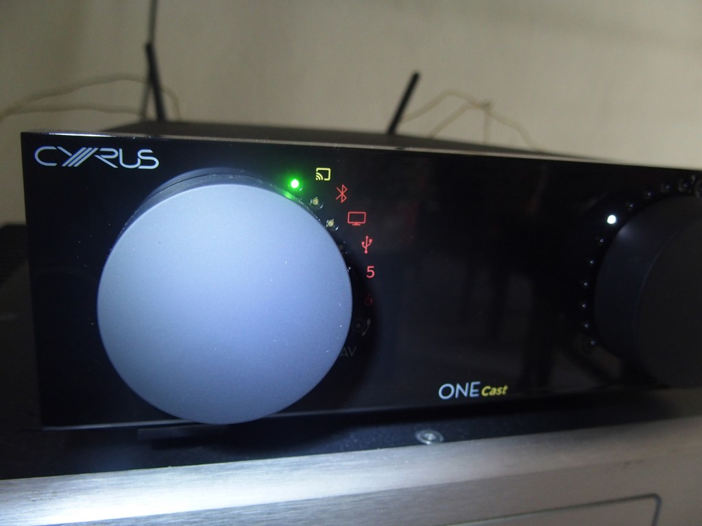 The Cyrus ONE Cast integrated amp in action.
