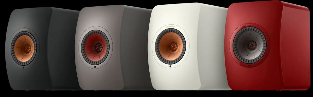 The KEF LS50 Wireless II speakers come in various colours.