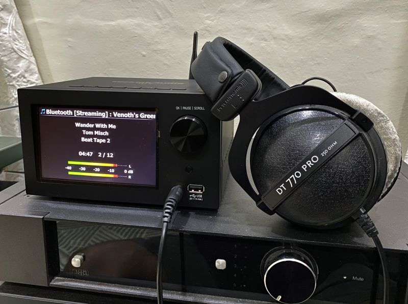 My go to Beyerdynamic was just too demanding for the headphone output to drive. Lower impedance headphones however are fine but not the desired listening mode.